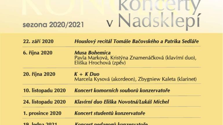 Komorní koncerty v Nadsklepí 2020/2021